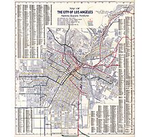 Los Angeles - Map of the railway systems - 1906 Photographic Print