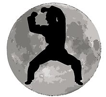 Martial Artist Moon by kwg2200