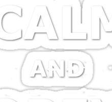 Keep Calm and Obey Cobra Sticker
