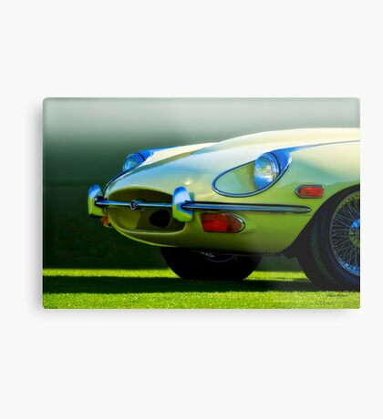 E-Type British Sports Car 'The Cat's Eye' Metal Print