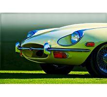 E-Type British Sports Car 'The Cat's Eye' Photographic Print