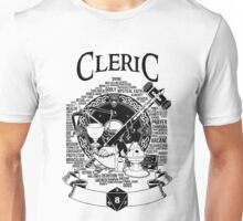 RPG Class Series: Cleric - Black Version Unisex T-Shirt