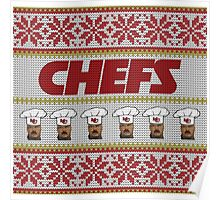 Chefs Ugly Christmas Sweater Poster