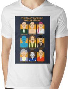 Many Faces of Tobias Mens V-Neck T-Shirt