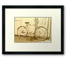 Man's Vintage Bicycle.... Framed Print