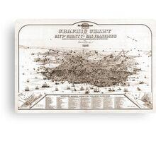 San Francisco - Graphic Chart - 1875 Canvas Print