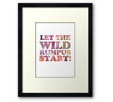 Where The Wild Things Are Quote 2 Framed Print