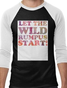 Where The Wild Things Are Quote 2 Men's Baseball ¾ T-Shirt