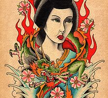 Dragon Geisha by MikeFrench