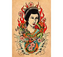 Dragon Geisha Photographic Print