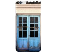 Half blue door iPhone Case/Skin