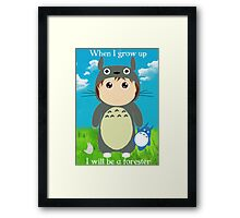 When I grow up, I will be a forester (girl) Framed Print