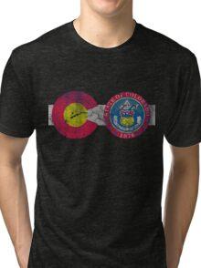State of Colorado Flag CO Tourism Tri-blend T-Shirt