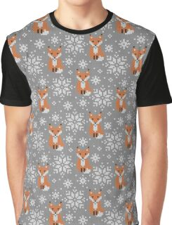Foxes jacquard Graphic T-Shirt