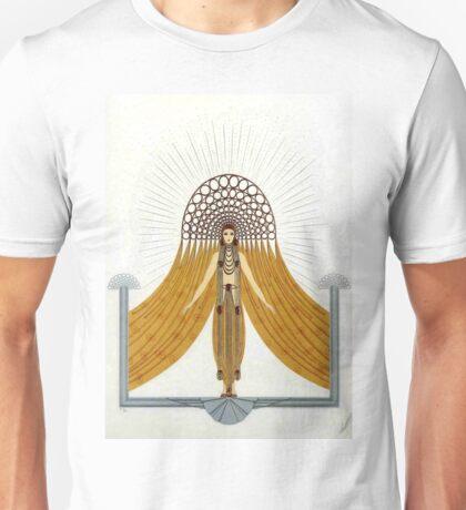 "Art Deco Costume by Erte ""Cafe Foujita"" Unisex T-Shirt"