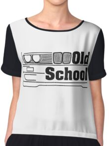 E30 Old School - Black Chiffon Top