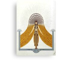 "Art Deco Costume by Erte ""Cafe Foujita"" Canvas Print"