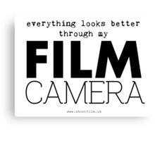 """Everything looks better through my film camera"" Canvas Print"