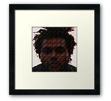 The Weeknd Abel Tesfaye Mosaic Framed Print