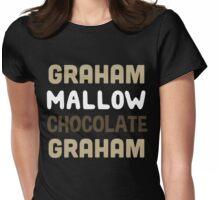 Graham. Marshmallow. Chocolate. Graham.  Womens Fitted T-Shirt