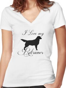 I love my Retriever Women's Fitted V-Neck T-Shirt