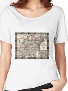 United States - Phelps's National map - 1852 Women's Relaxed Fit T-Shirt