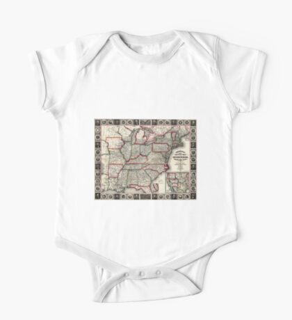 United States - Phelps's National map - 1852 One Piece - Short Sleeve