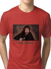 """Merry Christmas love from Hans"" Tri-blend T-Shirt"