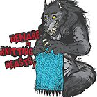 Beware of Knitting Beasts - light fabric by ImpyImp