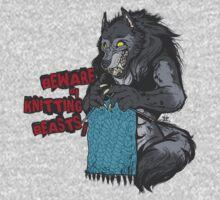 Beware of Knitting Beasts - light fabric T-Shirt
