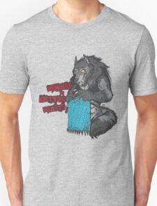 Beware of Knitting Beasts - light fabric Unisex T-Shirt