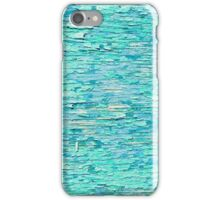 Old blue painted wood background  iPhone Case/Skin