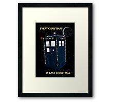 Every Christmas Is Last Christmas Doctor Who Framed Print