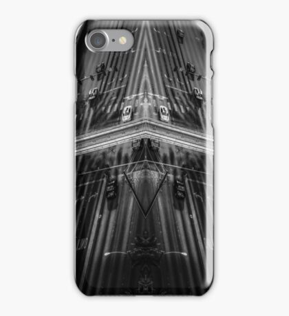 cars on the street in black and white iPhone Case/Skin
