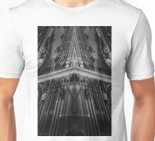 cars on the street in black and white Unisex T-Shirt