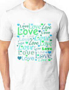 Love pattern - green and blue Unisex T-Shirt