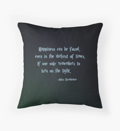 Harry Potter, Dumbledore quote Throw Pillow