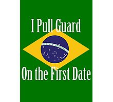 First Date BJJ (White) Photographic Print