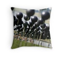 Shiny Black Balls Throw Pillow