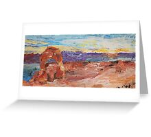 Delicate Sunset Greeting Card