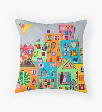 Owl in love Throw Pillow