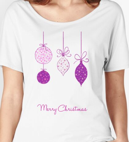 Merry Christmas Baubles Women's Relaxed Fit T-Shirt