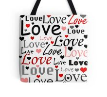 Valentines day pattern - red Tote Bag