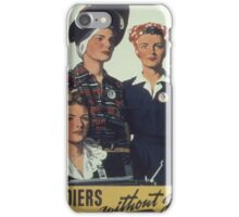 Vintage poster - Soldiers without guns iPhone Case/Skin