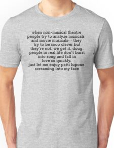 Non Musical Theatre People Unisex T-Shirt