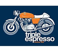 Triple Espressoo Laverda 3CE Cafe Racer Photographic Print