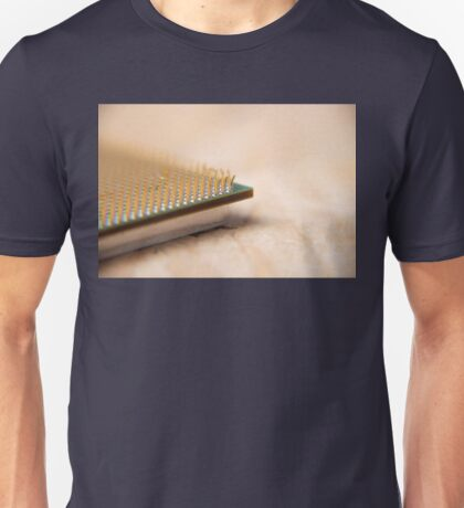 Damaged CPU electronic processor macro Unisex T-Shirt