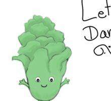 Lettuce Dance Art Vegetable Sticker