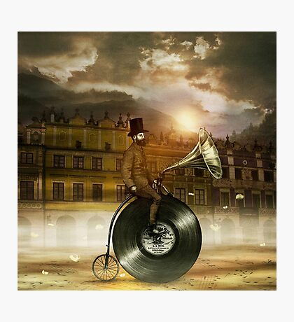Music Man in the City Photographic Print
