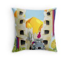 Hippo Hoppo - Castle Throw Pillow